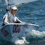 Perth 2011 - day 3 Paul Kane  PERTH, AUSTRALIA - DECEMBER 05:  Krystal Weir of Australia competes on day 3 during the Laser Radial Qualifying Race of the 2011 ISAF Sailing World Championships on December 5, 2011 in Perth, Australia. (Photo by Paul Kane/Perth 2011)  © Paul Kane